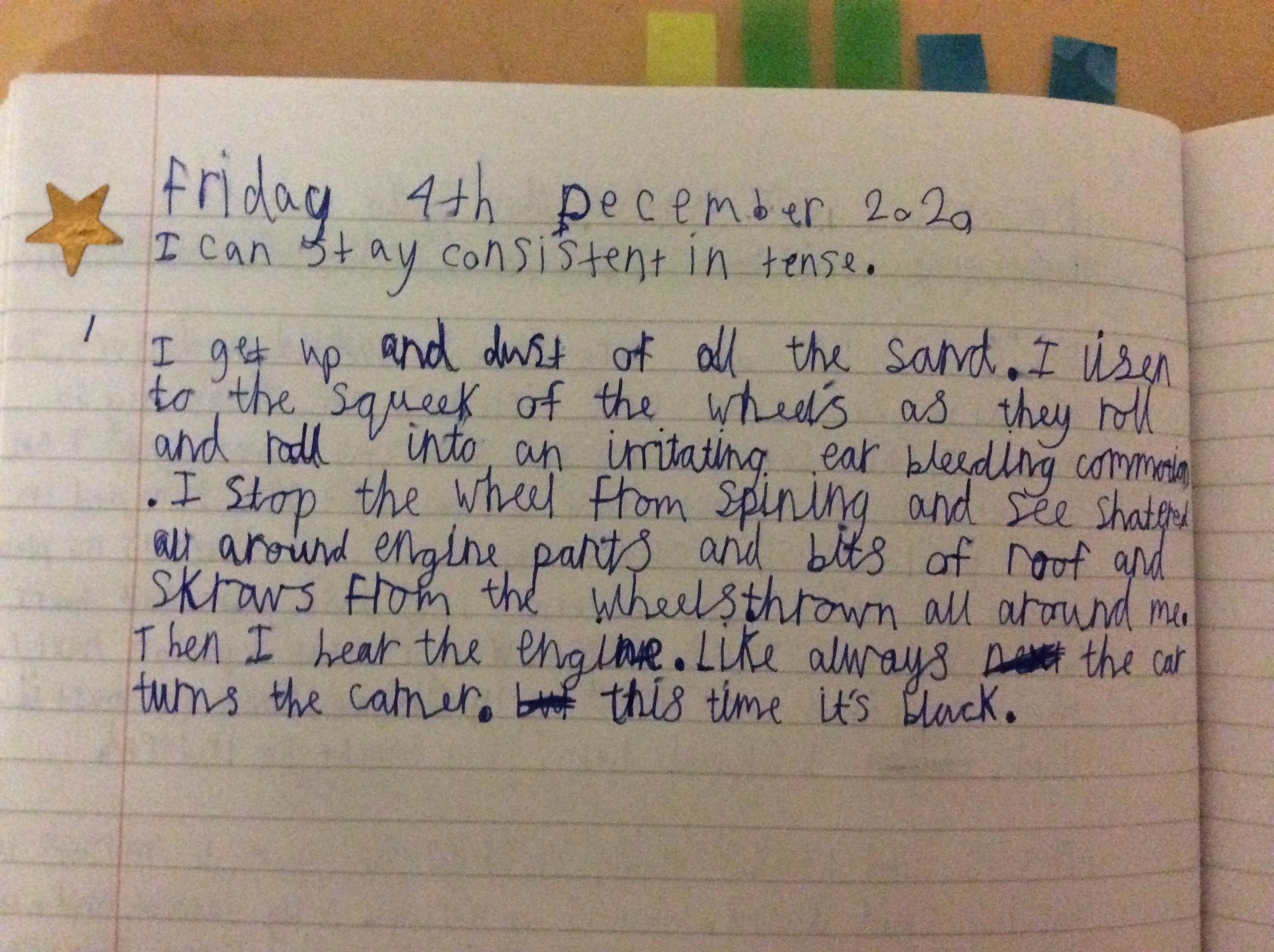 Liam's incredible handwriting!