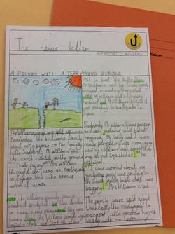 Krisha's fabulous newspaper report!
