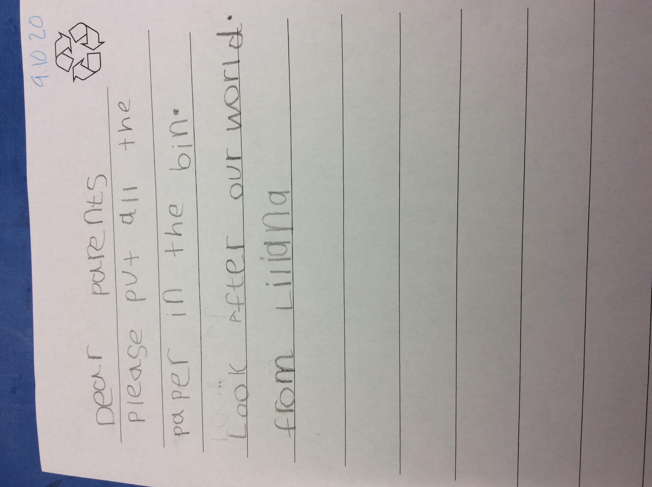 Liliana's fantastic writing!