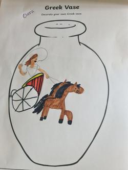 Eleni's amazing Greek vase design!