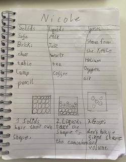Nicole's fantastic science work!