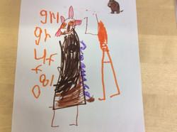Jaziah's amazing Gruffalo writing!