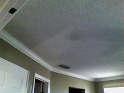 Ceiling next to ac vent