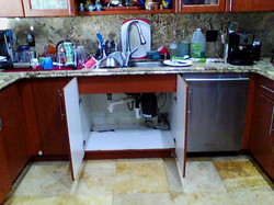 Naked eye kitchen cabinets and sink