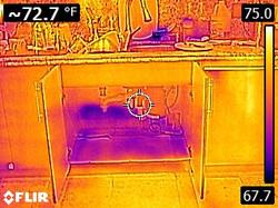 Infrared water kitchen cabinets sink