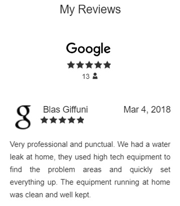 google reviews 5 stars Restoration 1 of
