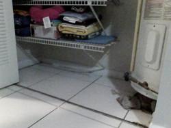 Naked eye water heater closet