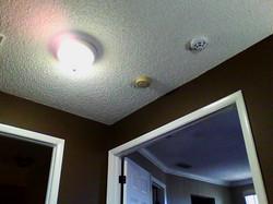 Naked eye ceiling next to light
