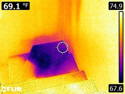 Infrared water carpet stairs