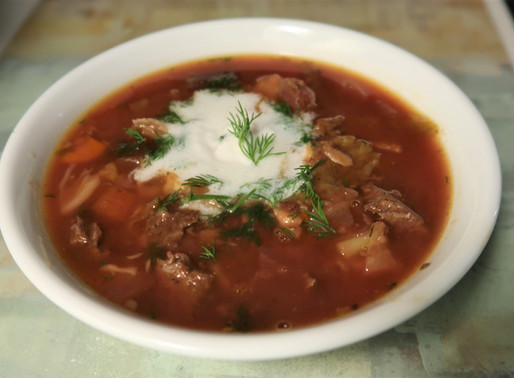 Paleo AIP Instant Pot Russian Beet Stew (BORSCHT)