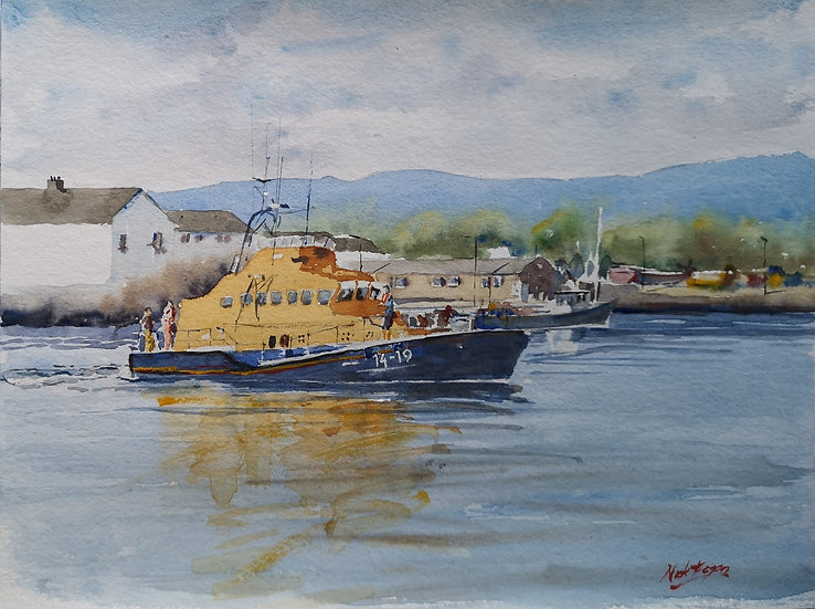 'R.N.L.I. Life boat at Arklow Harbour'