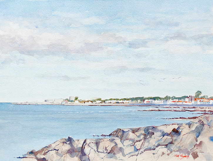 'Cold afternoon Queen's Road Dun Laoghaire'