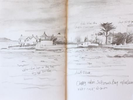 Sketch for: Scotsman's Bay in Choppy Waters