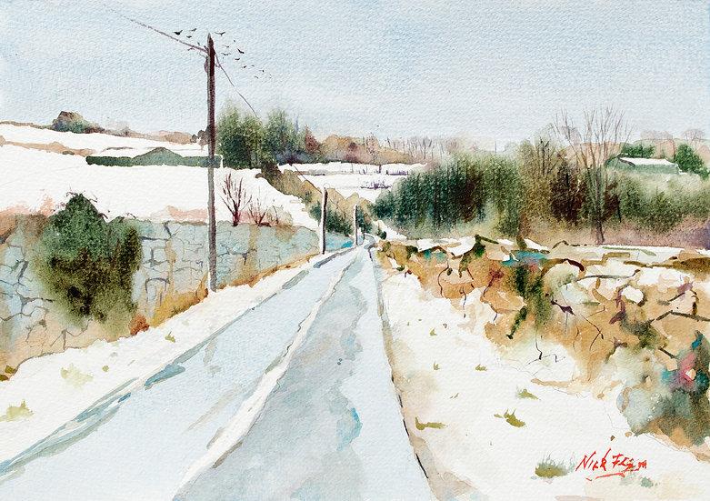 'Snow & Ice Ballybetagh Road'
