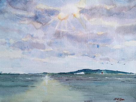 'Breaking Sun Over Dublin Bay'