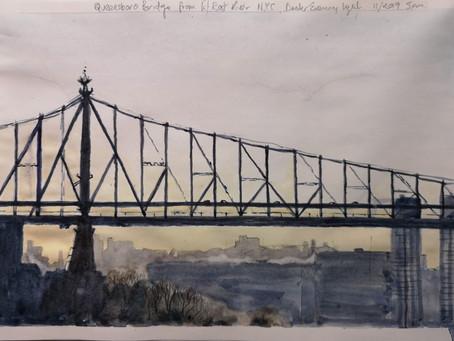 Queensboro Bridge from East River.