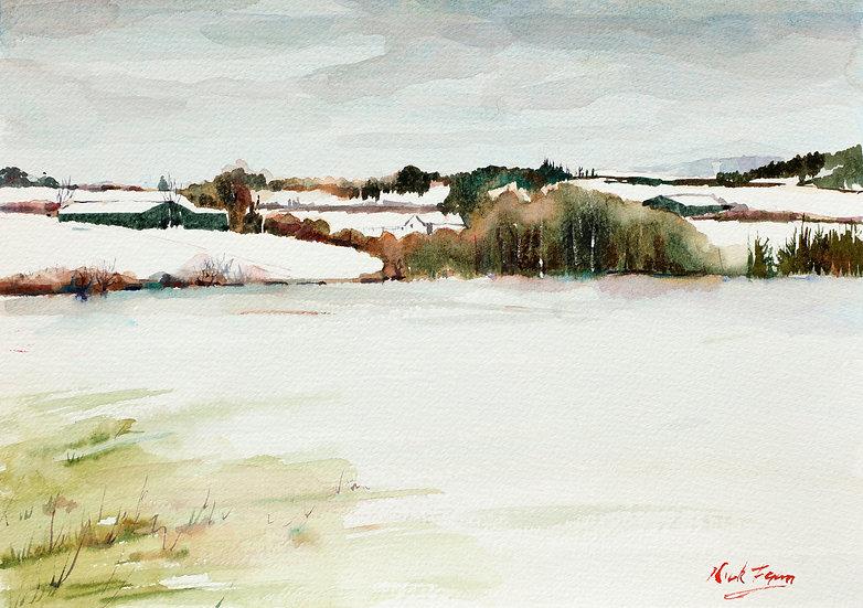 'Farm in Snow, Ballybetagh Road'