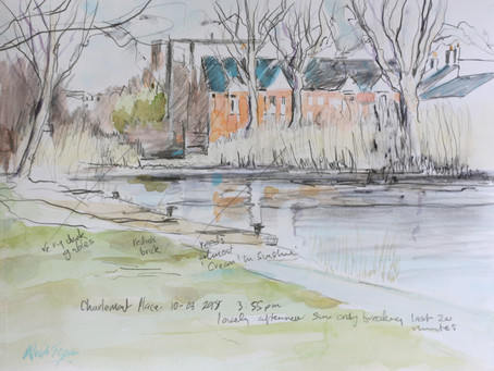Watercolour Sketch for Charlemont Place. D1