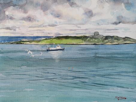 'St, Briget over Dalkey Island'