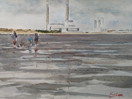 'Cold Windy Day Sandymount Strand'