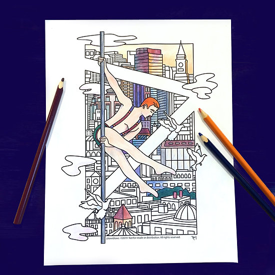 City Dancer Coloring Page w/consent for Studio Use