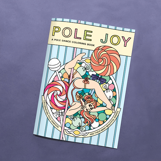 Pole Joy Coloring Book (20 Books) + Media Mail Shipping (US only)