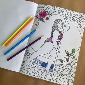 Why make a pole dance coloring book?