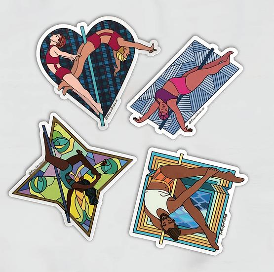 Pole Dance Sticker Pack