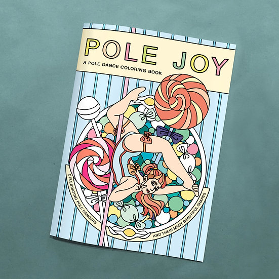 Pole Joy Coloring Book (20 Books) + Priority Mail Shipping (US only)