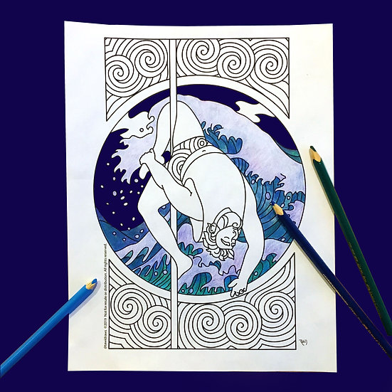 Wave Dancer Coloring Page