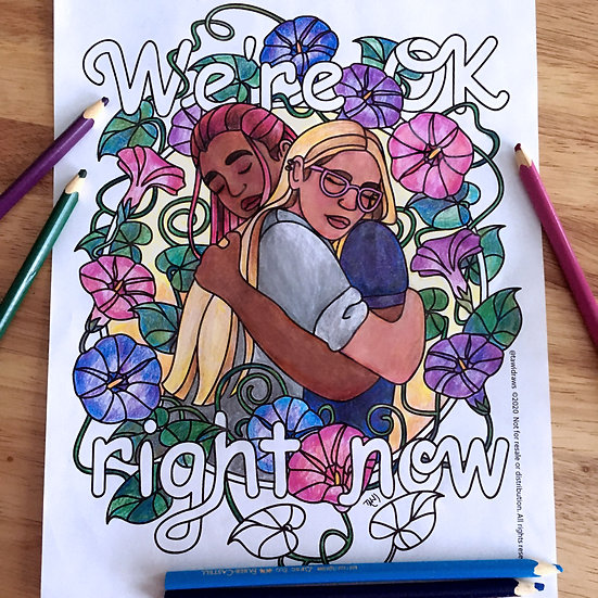 We're Ok Right Now Coloring Page