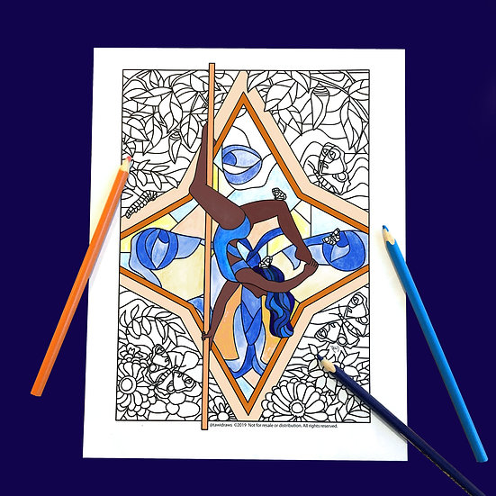Butterfly Dancer Coloring Page