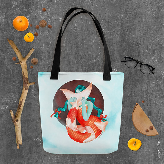 Bein' Koi Mermaid Tote Bag