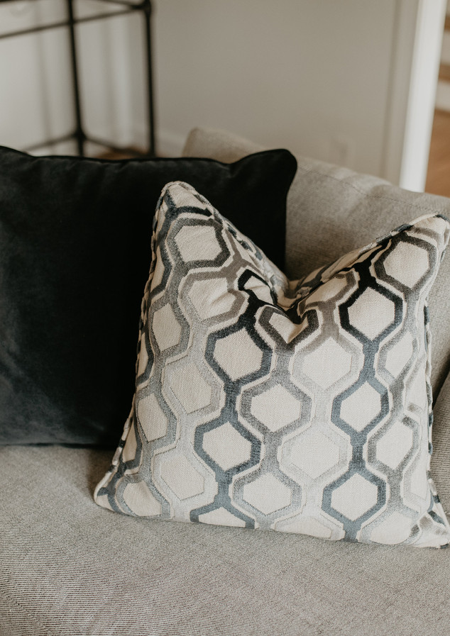 Custom pillow with gorgeous fabric