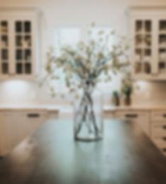 HouseLift kitchen island floral interior design