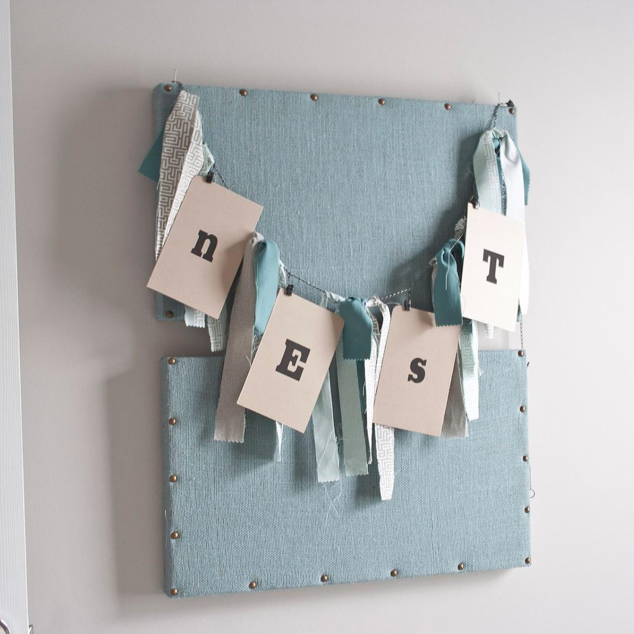 Burlap Pin Board