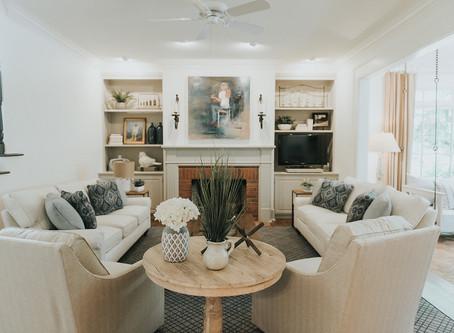 European Cottage Family Room Reveal