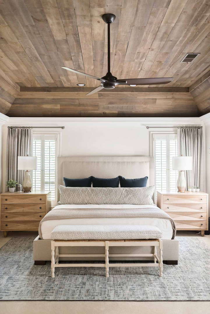 Wood Ceiling Modern Rustic Bedroom