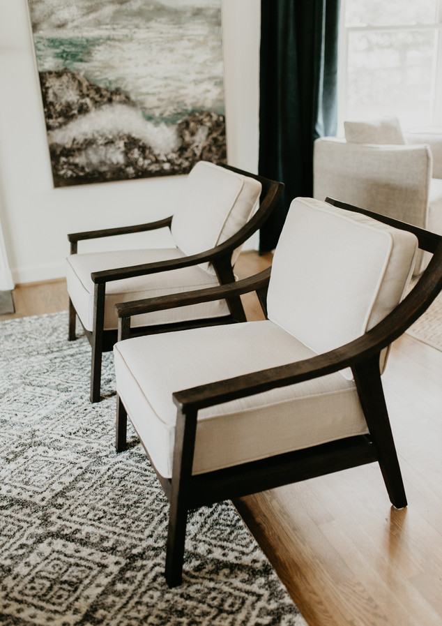 Wood Frame Modern Accent Chair