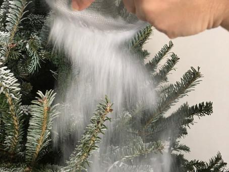 DIY Flocked Christmas Tree!