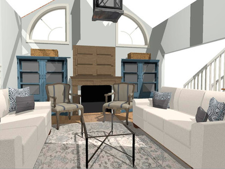 ELEGANT LIVING ROOM WITH A CASUAL SLANT