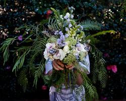 whimsical garden bridal bouquet