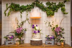 bridal cake table design