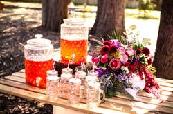 wedding ceremony drinks station