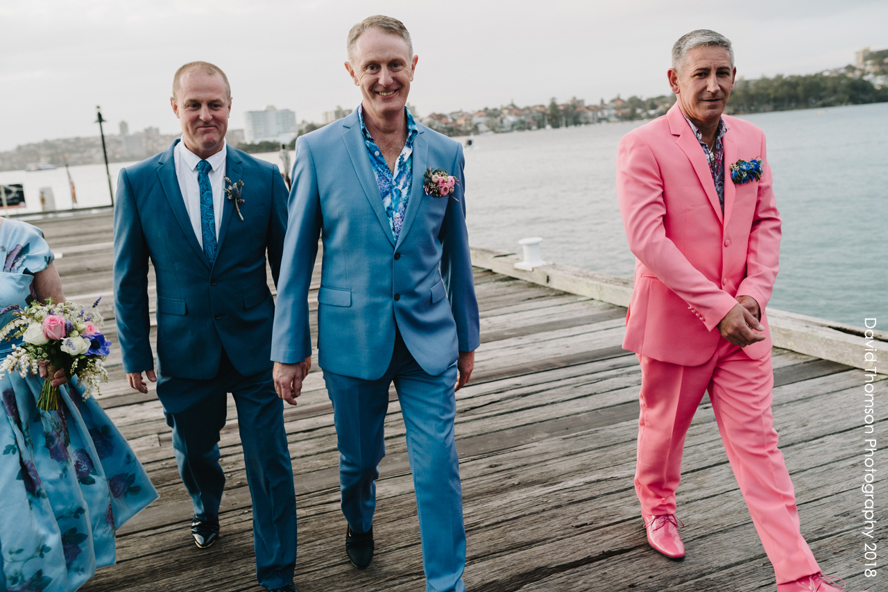 gay wedding florals