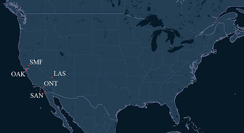 West Air Pilot Bases Map