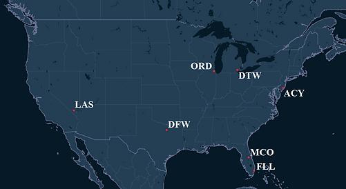 Spirit Airlines Pilot Bases Map