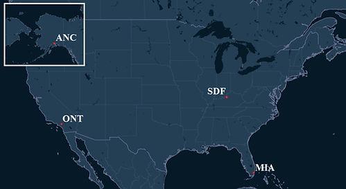 UPS Pilot Bases Map