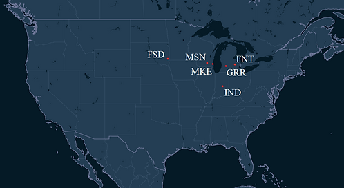 CSA Air Pilot Bases Map
