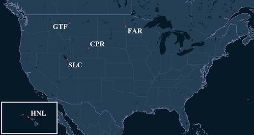 Corporate Air Pilot Bases Map
